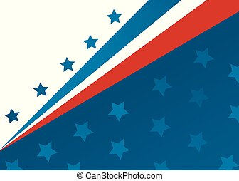 旗, ベクトル, スタイル, アメリカ