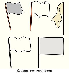 旗, ベクトル, セット