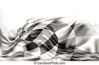 旗, ベクトル, 背景, レース, イラスト