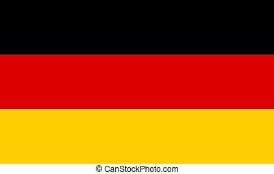 旗, ベクトル, eps10, イラスト, germany.