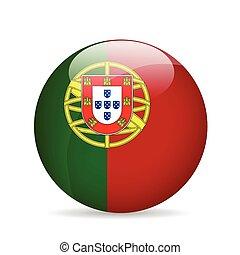 旗, ベクトル, portugal., illustration.