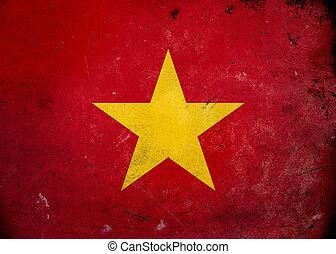 旗, ベトナム, グランジ