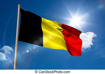 旗, ベルギー, 国民, flagpole