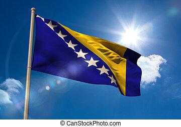 旗, ボスニア, 国民, flagpole