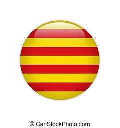 旗, ボタン, カタロニア