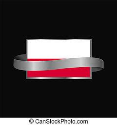 旗, ポーランド, デザイン, 旗, リボン