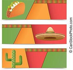 旗, メキシコ人, 横