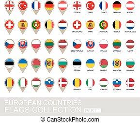 旗, ヨーロッパ, 国, コレクション