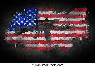 旗, ライフル銃