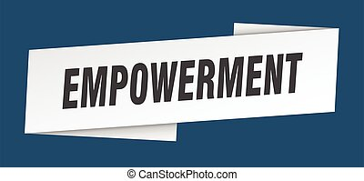 旗, ラベル, empowerment, 印, リボン, template.