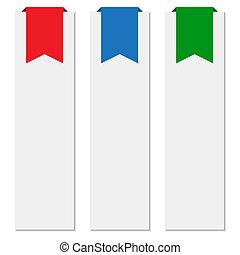 旗, リボン, カラフルである