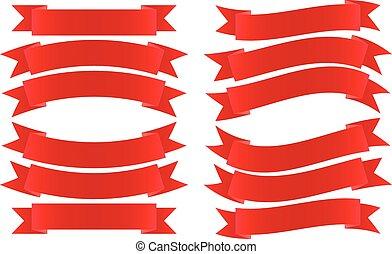 旗, リボン, 赤