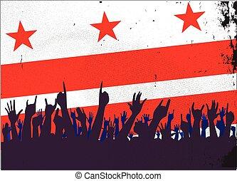 旗, ワシントン, 聴衆, dc