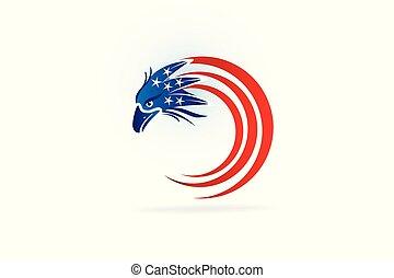 旗, ワシ, シンボル, ロゴ