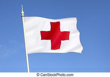 旗, 交差点, 赤