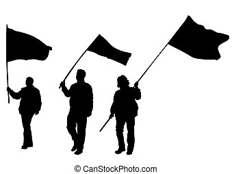 旗, 人々