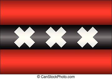 旗, 光沢がある, アムステルダム