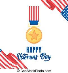 旗, 力, 幸せ, 金, 兵士, メダル, アメリカ人, 軍, 私達, 武装させられた, 星, 日, ベテラン