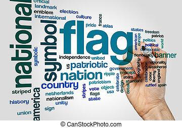 旗, 単語, 雲