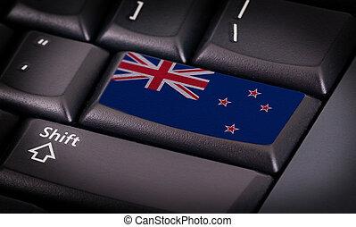 旗, 在上, 键盘