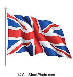 旗, 在中, the, 英国