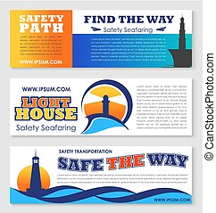 旗, 安全, 灯台, 交通機関, 海
