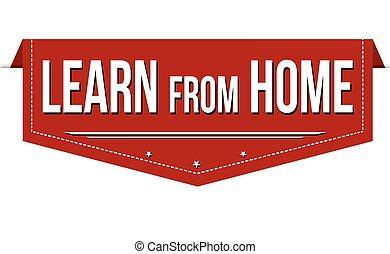 旗, 家, 学びなさい, デザイン