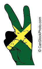 旗, 平和, jamaican, 印