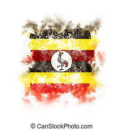 旗, 広場, グランジ, ウガンダ