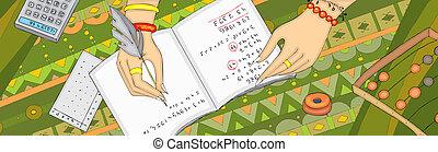 旗, 手, numerology, arithmancy