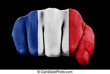旗, 握りこぶし, フランス語