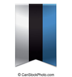 旗, 旗, -, エストニア人, リボン