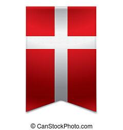 旗, 旗, -, リボン, デンマーク