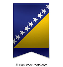 旗, 旗, -, リボン, ボスニア