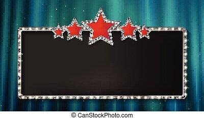 旗, 星, marquee