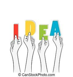 旗, 概念, デザイン, 考え