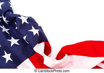 旗, 白, アメリカ人, 背景