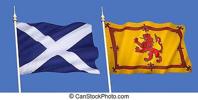 旗, ......的, 蘇格蘭