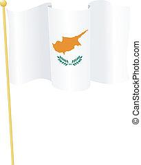 旗, ......的, cyprus., 矢量