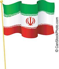 旗, ......的, iran., 矢量