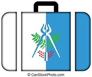 旗, ......的, izhevsk, russia., 小提箱, 圖象, 旅行, 以及, 運輸, 概念