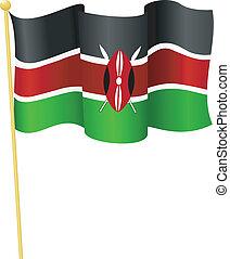 旗, ......的, kenya., 矢量
