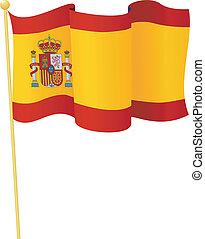 旗, ......的, spain., 矢量
