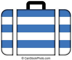 旗, ......的, tallinn., 小提箱, 圖象, 旅行, 以及, 運輸, 概念