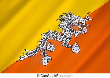 旗, ......的, the, 王國, ......的, 不丹