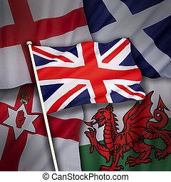 旗, ......的, the, 英國, ......的, 英國
