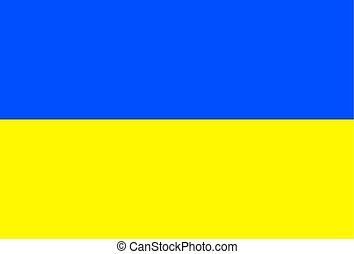 旗, ......的, ukraine., 矢量, 插圖