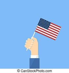 旗, 私達, 手