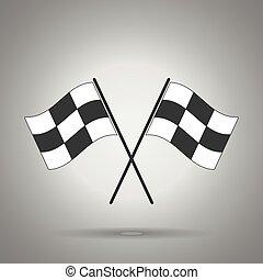 旗, 競争, アイコン