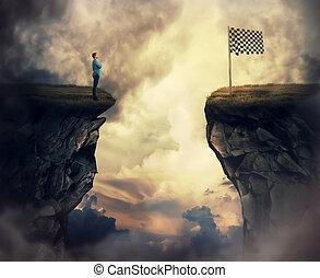 旗, 終わり, リーチ